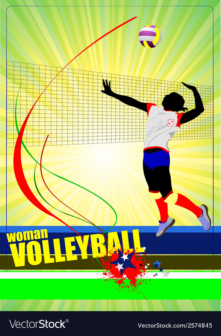 Al 0445 woman volleyball 01 vector | Price: 1 Credit (USD $1)