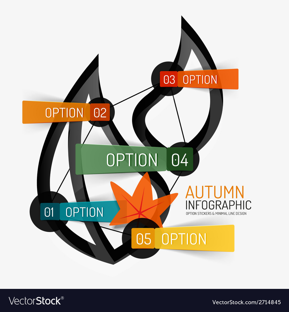 Autumn option infographic banner minimal design vector | Price: 1 Credit (USD $1)
