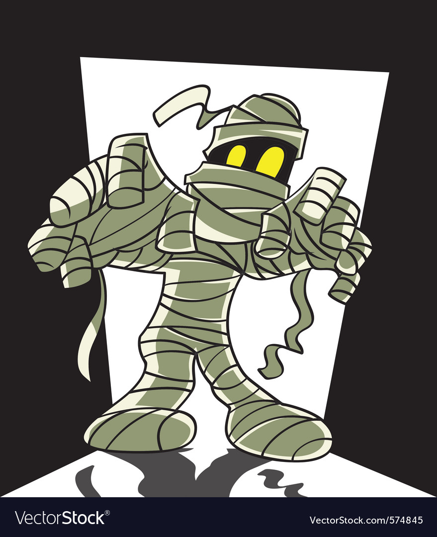 Cartoon spooky mummy vector | Price: 1 Credit (USD $1)