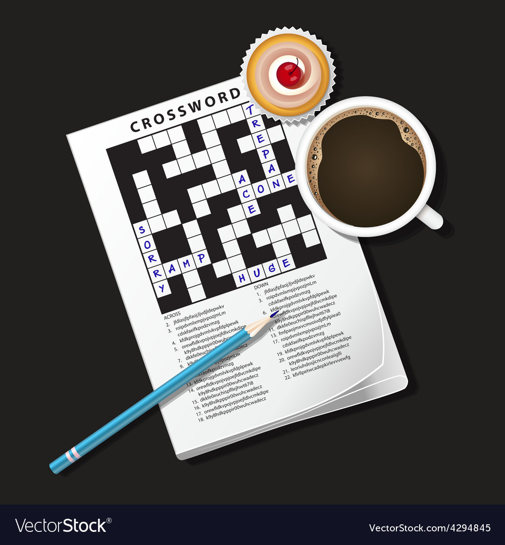 Crossword coffee2 vector | Price: 1 Credit (USD $1)