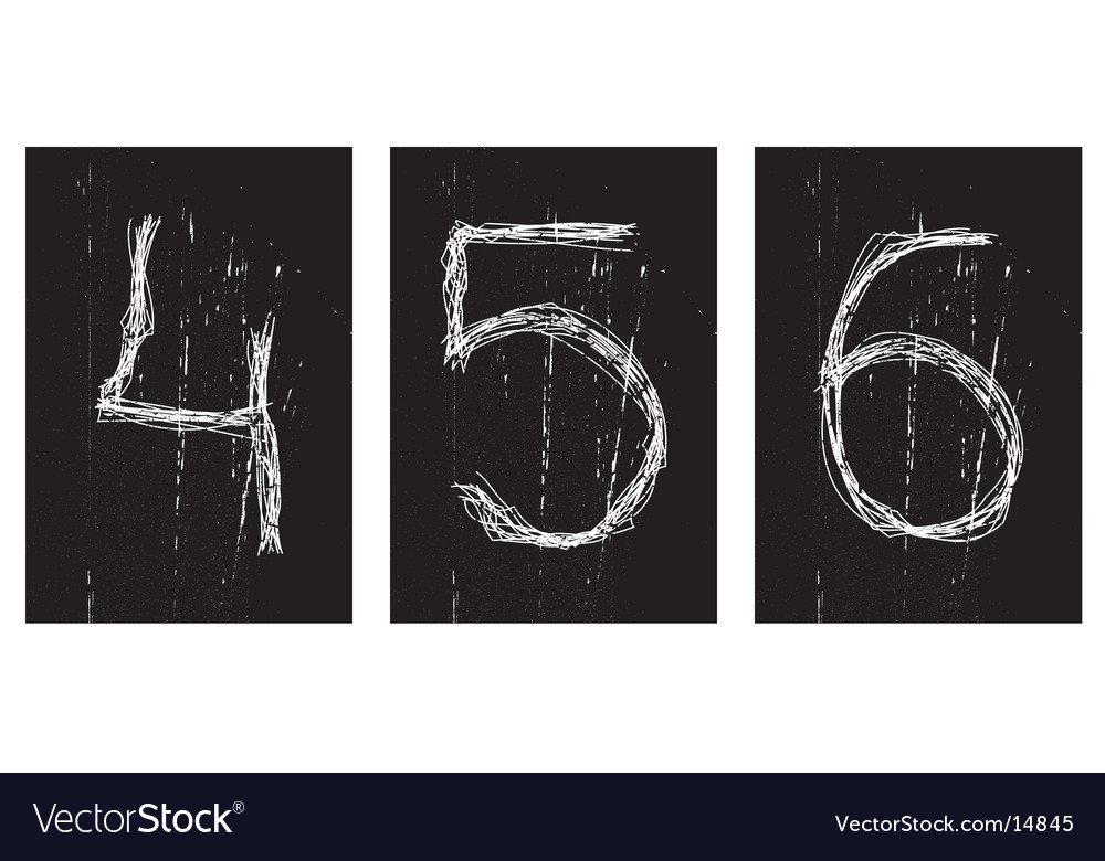 Digits square icons vector | Price: 1 Credit (USD $1)
