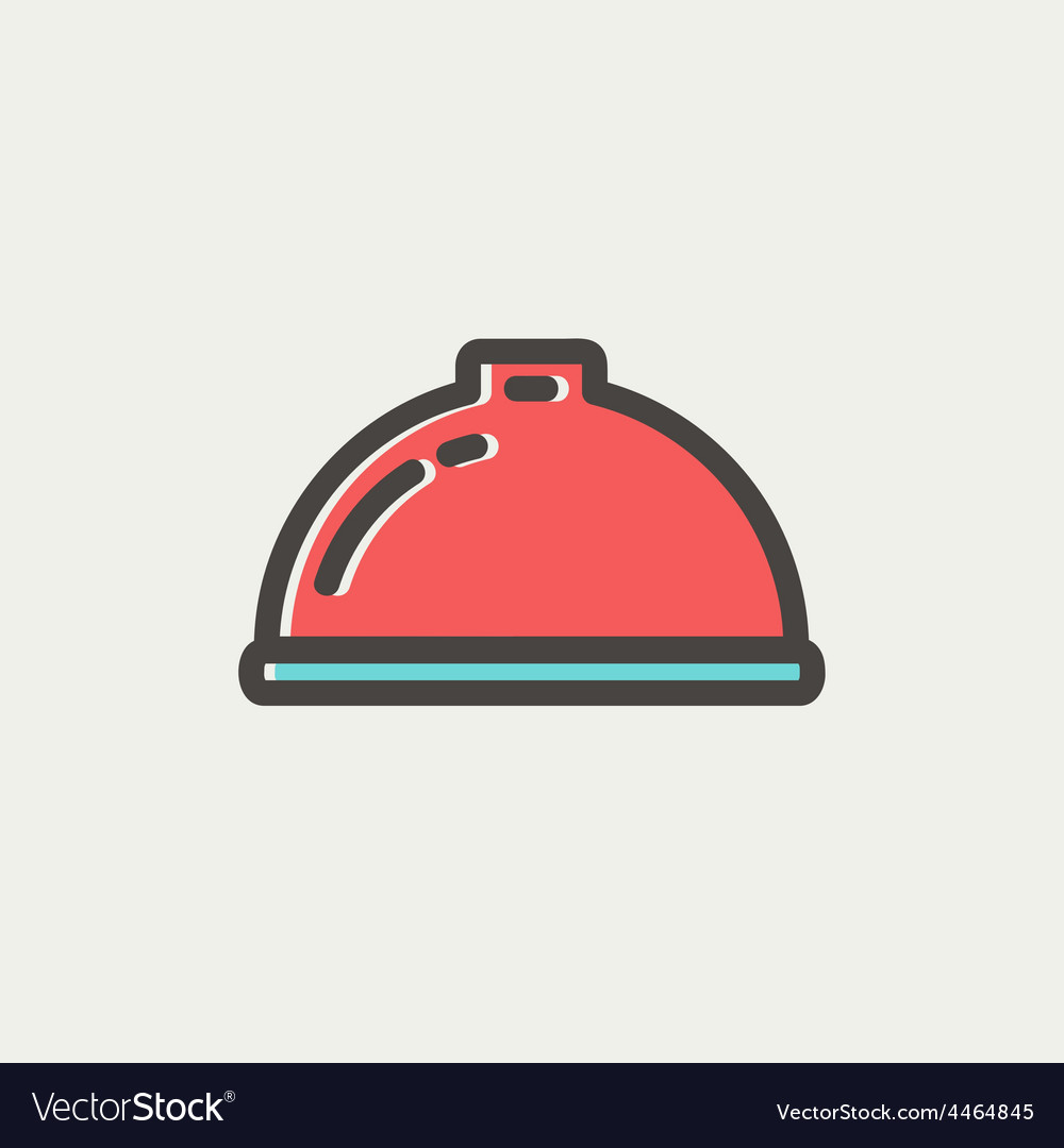 Food serving tray thin line icon vector | Price: 1 Credit (USD $1)