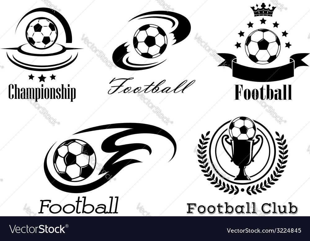 Football and soccer emblems or badges vector | Price: 1 Credit (USD $1)
