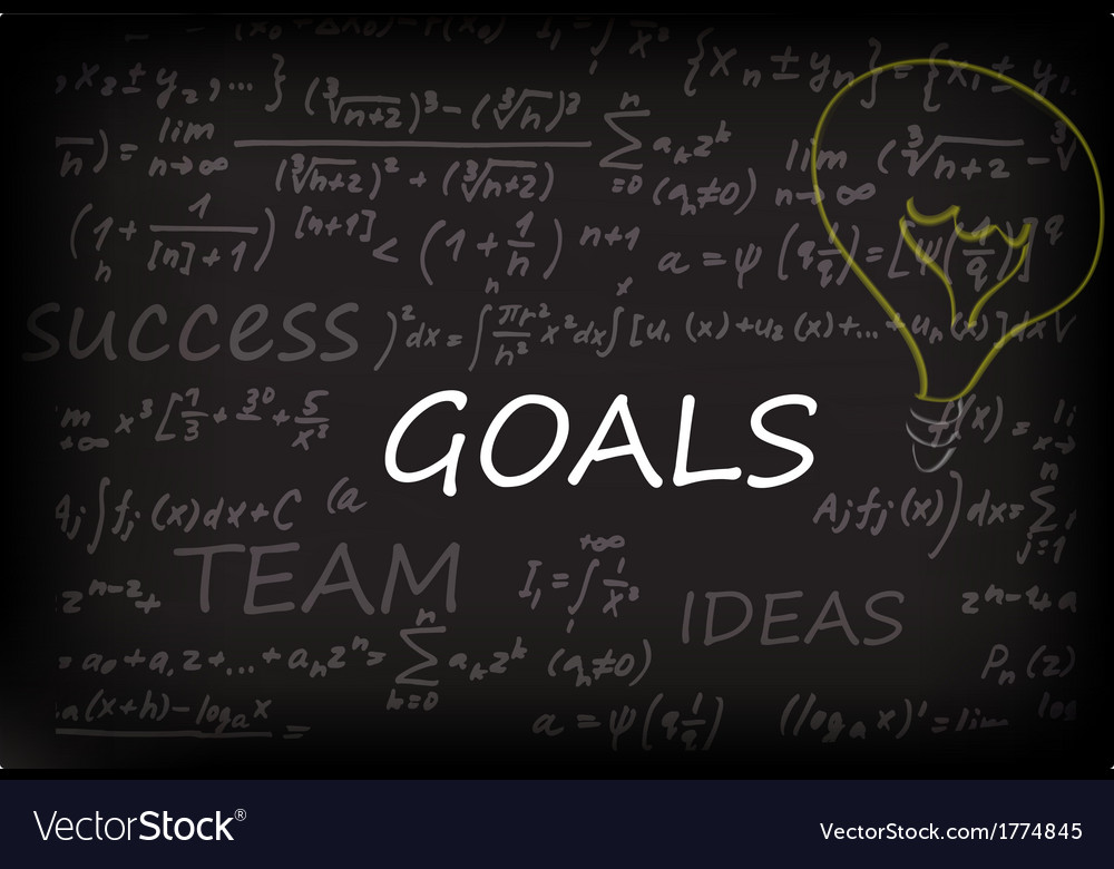 Goals on chalk board vector | Price: 1 Credit (USD $1)