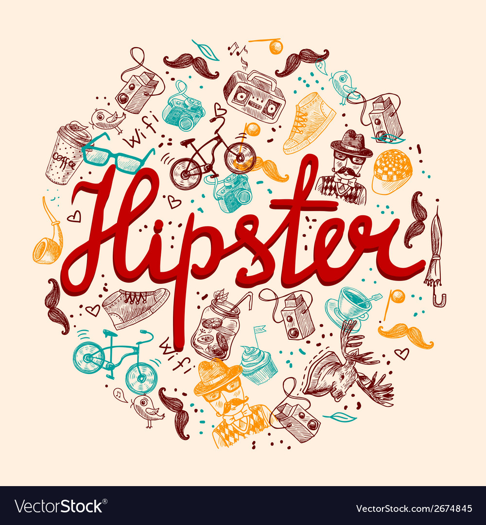 Hipster background vector | Price: 1 Credit (USD $1)