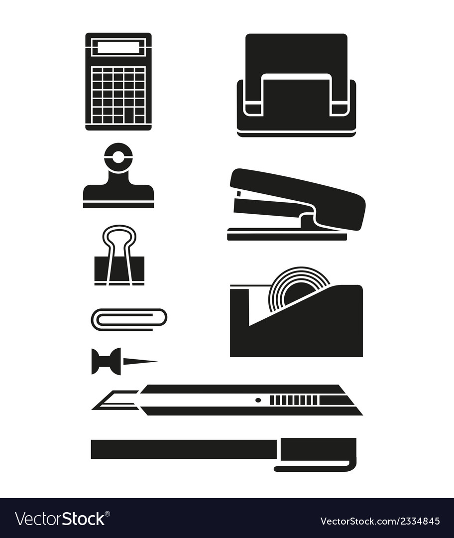 Office business icons vector | Price: 1 Credit (USD $1)