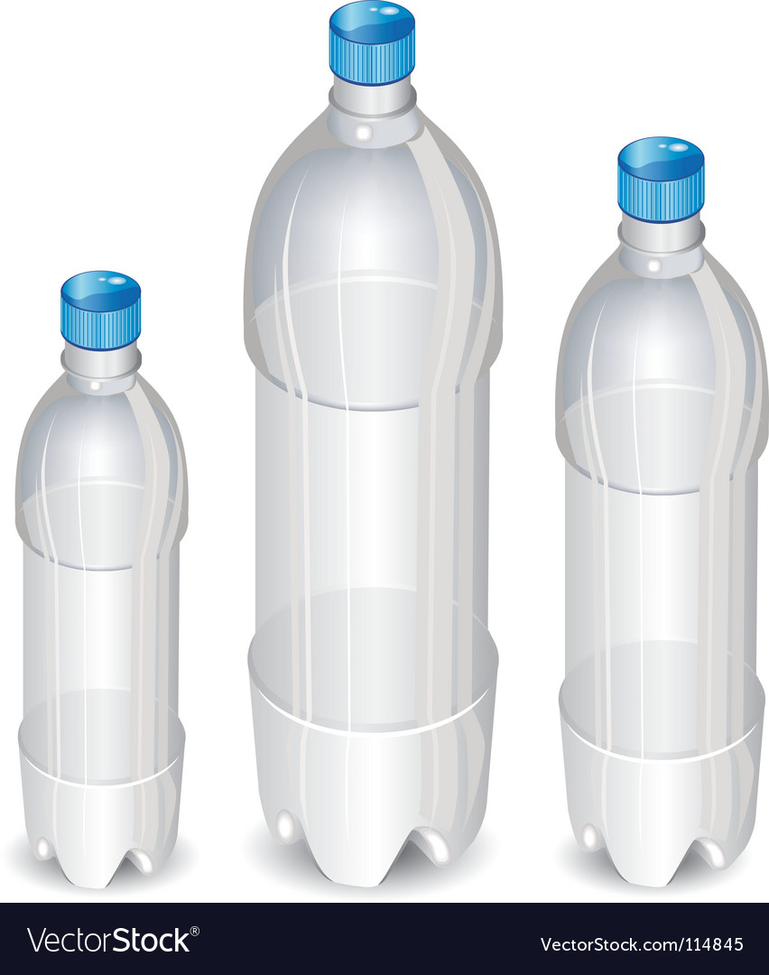 Plastic bottles vector | Price: 1 Credit (USD $1)