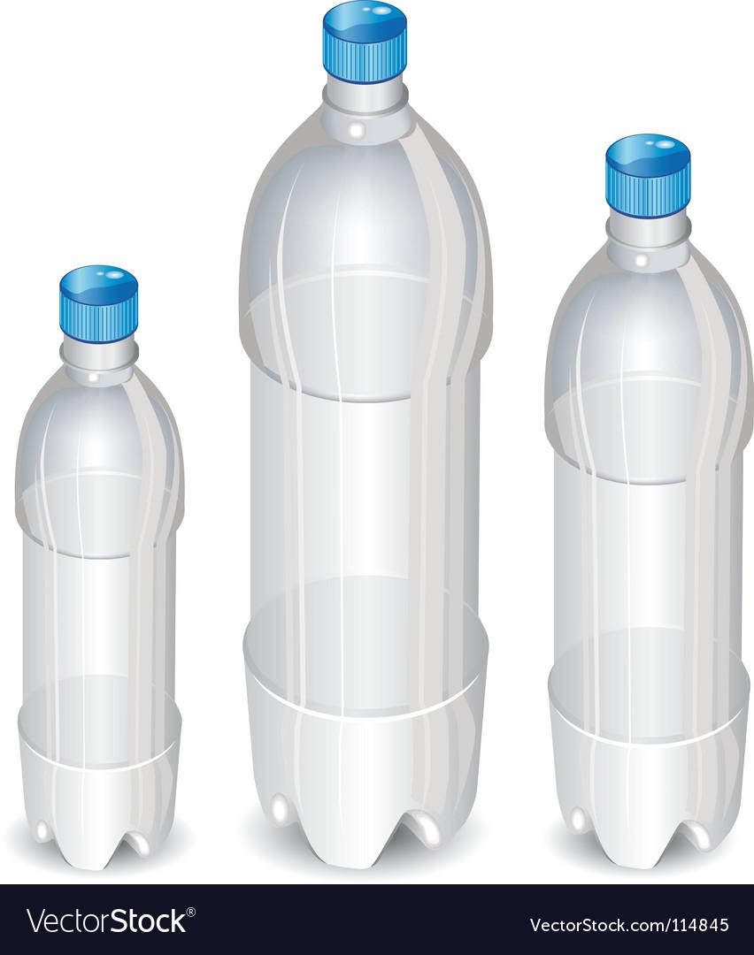 Plastic bottles vector | Price: 1 Credit (USD $1)