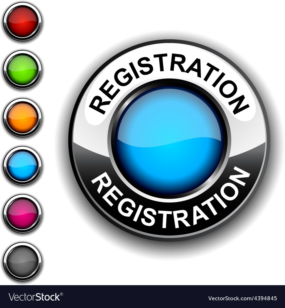 Registration button vector | Price: 1 Credit (USD $1)