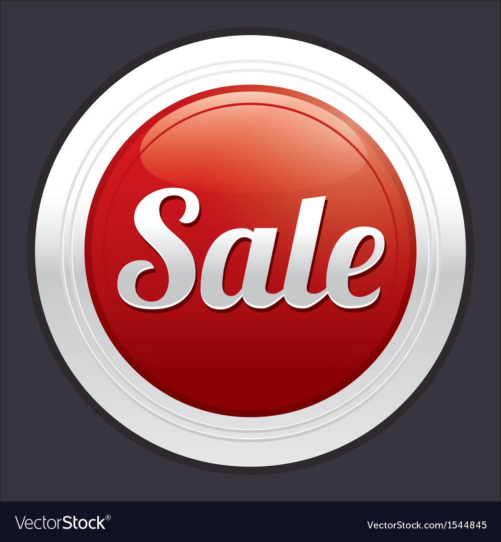 Sale button red round sticker vector | Price: 1 Credit (USD $1)