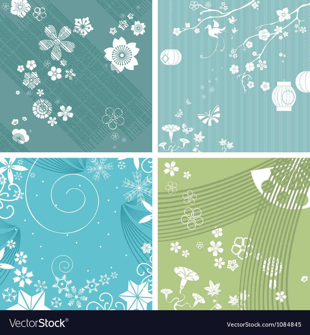 Season patterns vector | Price: 1 Credit (USD $1)