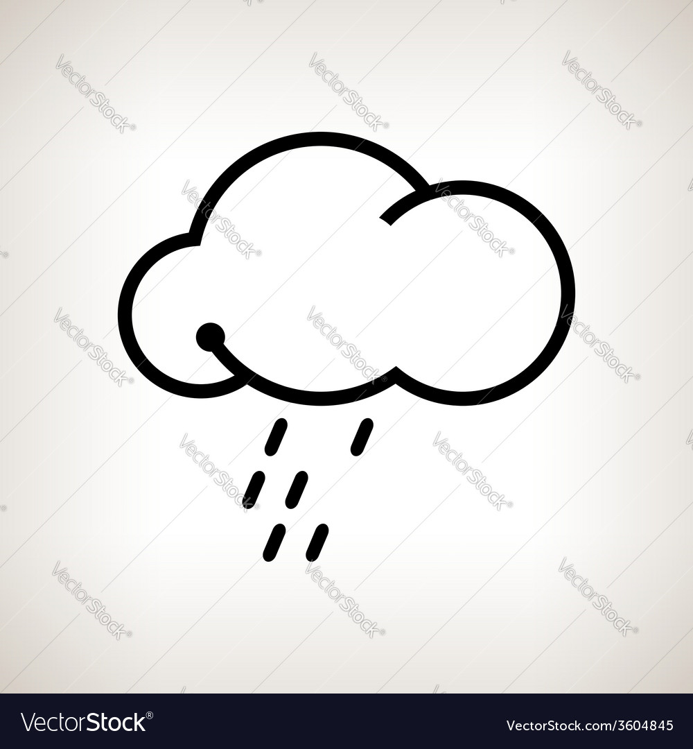 Silhouette cloud with the rain vector | Price: 1 Credit (USD $1)