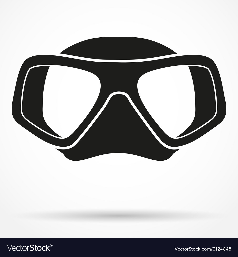 Silhouette symbol of underwater diving scuba mask vector | Price: 1 Credit (USD $1)