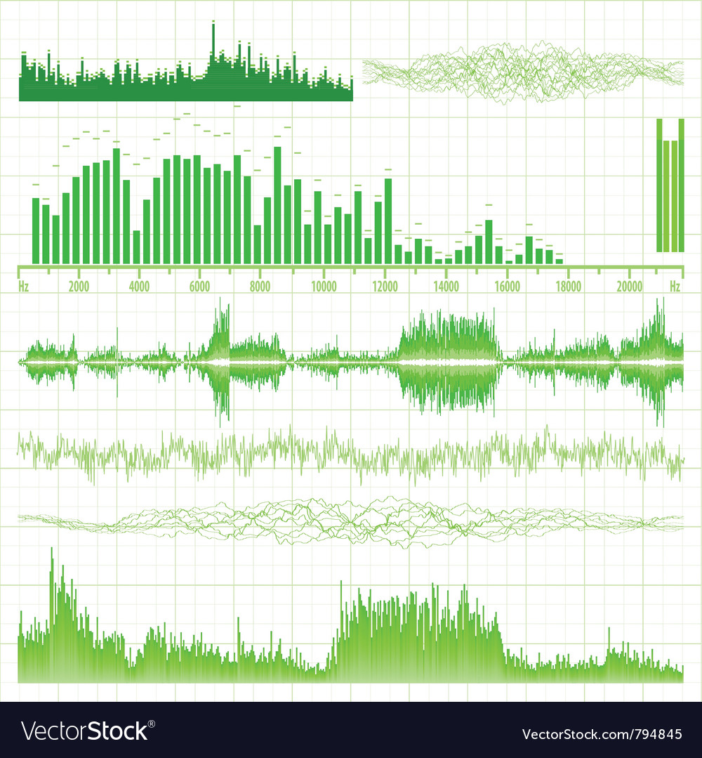 Sound waves vector | Price: 1 Credit (USD $1)