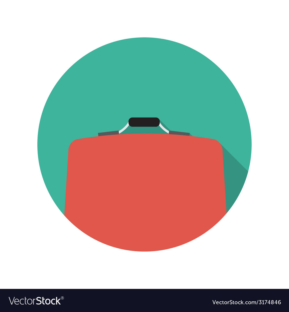 Flat design concept suitcase with long shado vector | Price: 1 Credit (USD $1)