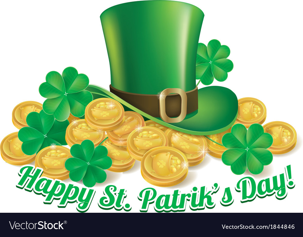 Hat and coins st patrick vector | Price: 3 Credit (USD $3)
