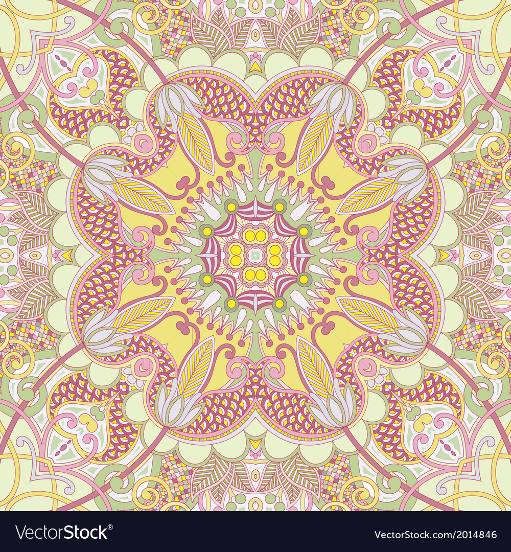 Original retro paisley seamless pattern vector | Price: 1 Credit (USD $1)
