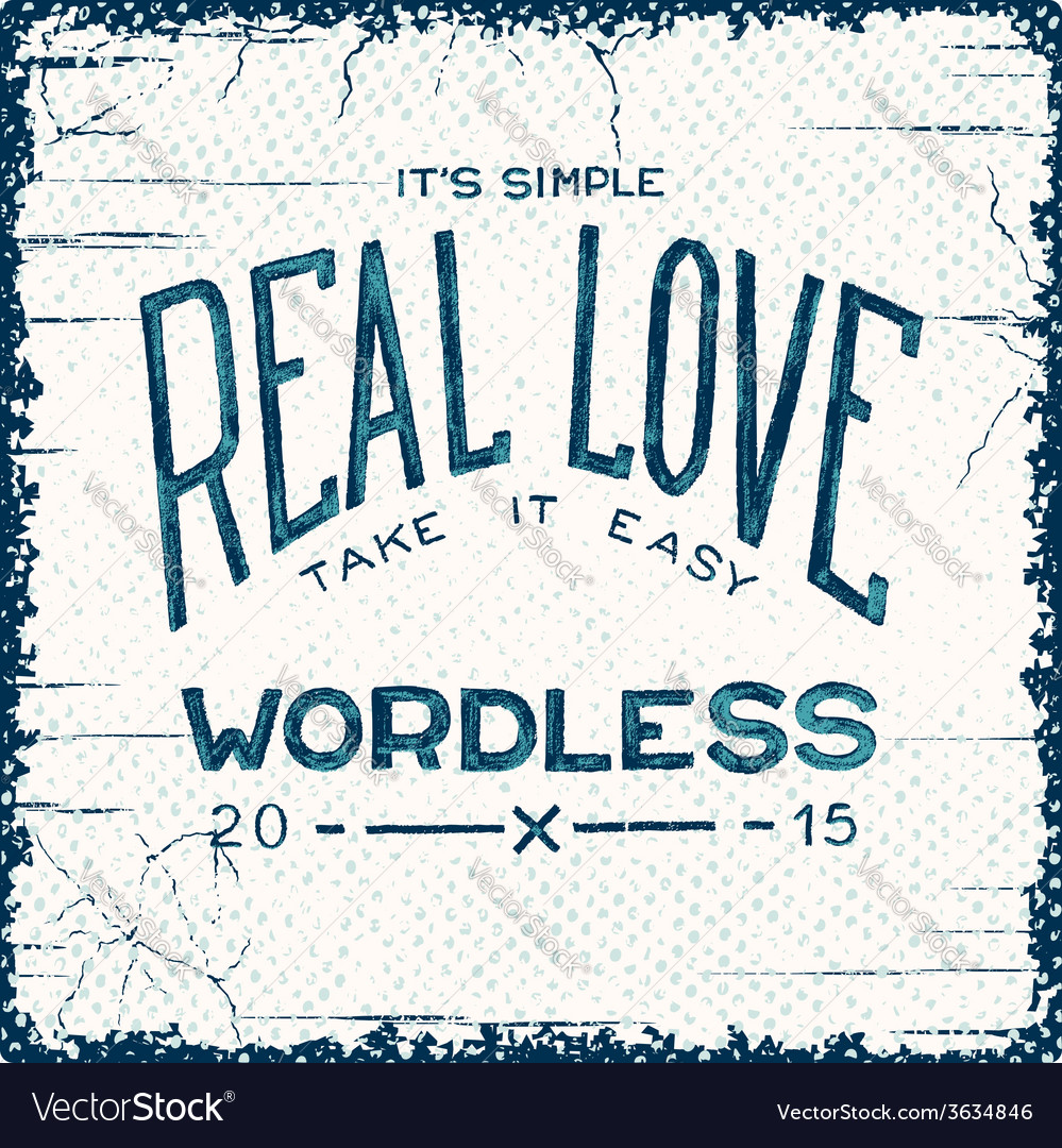 Real love wordless vector | Price: 1 Credit (USD $1)
