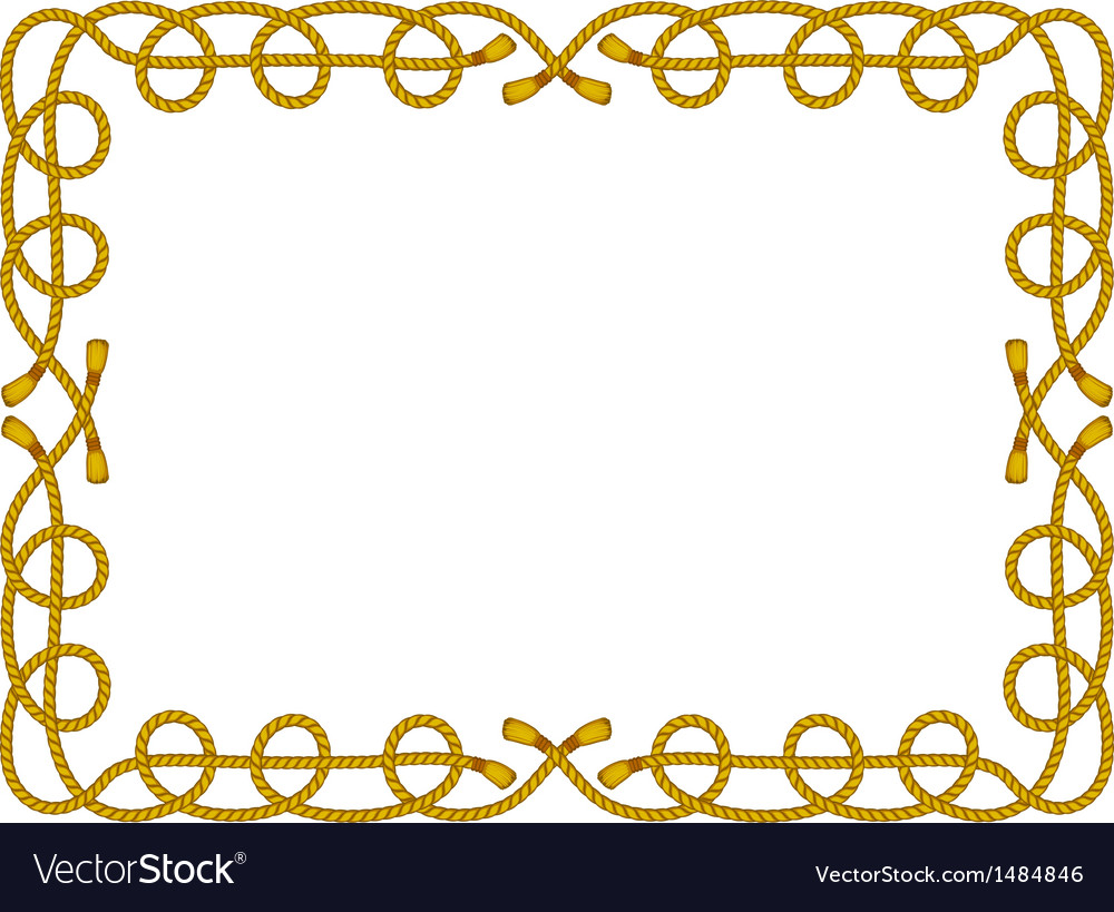 Rope frame isolated on white vector | Price: 1 Credit (USD $1)
