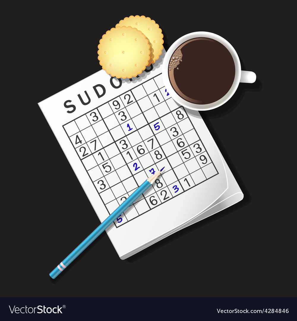 Sudoku coffee2 vector | Price: 3 Credit (USD $3)