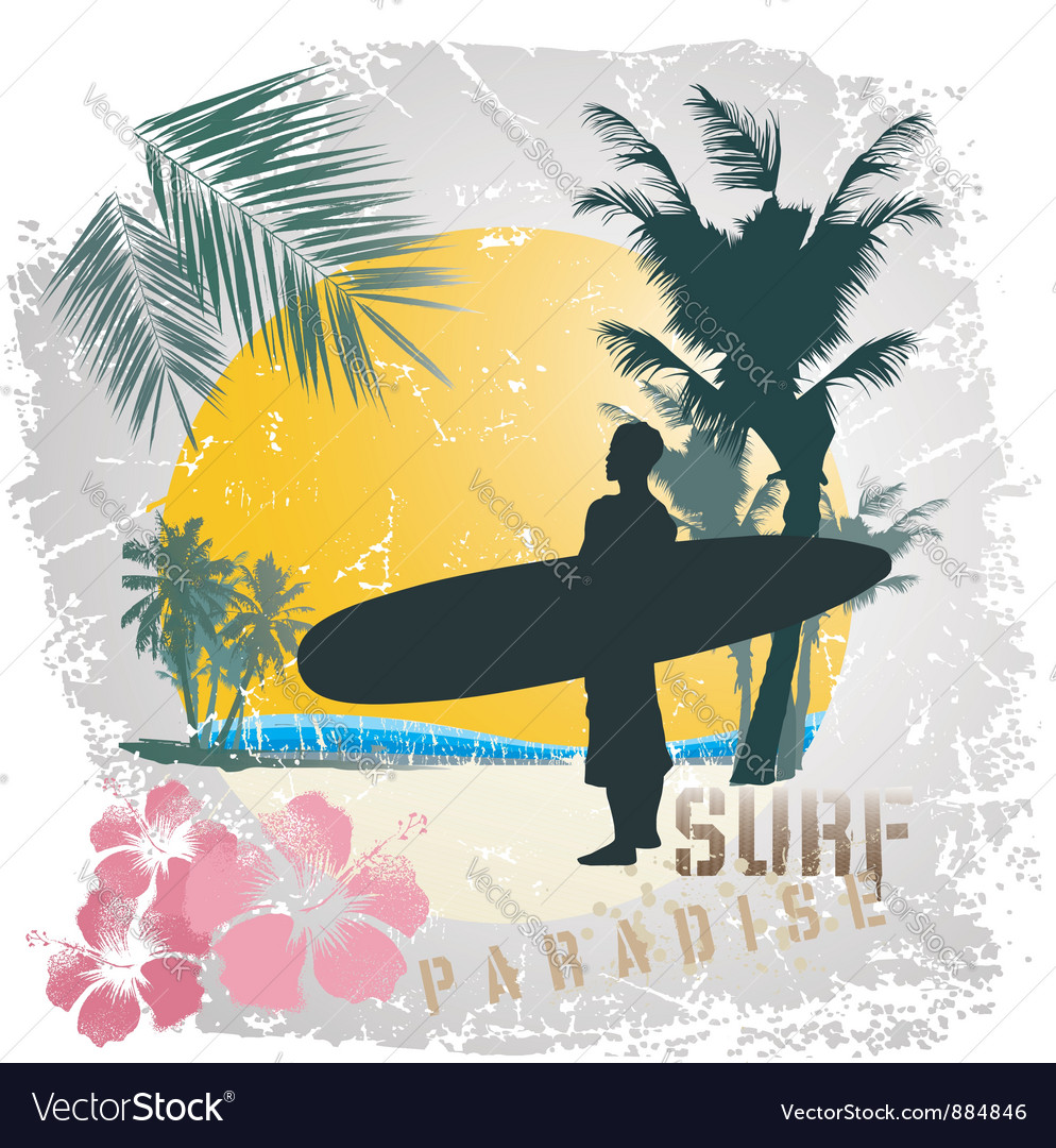Surf paradise vector | Price: 1 Credit (USD $1)