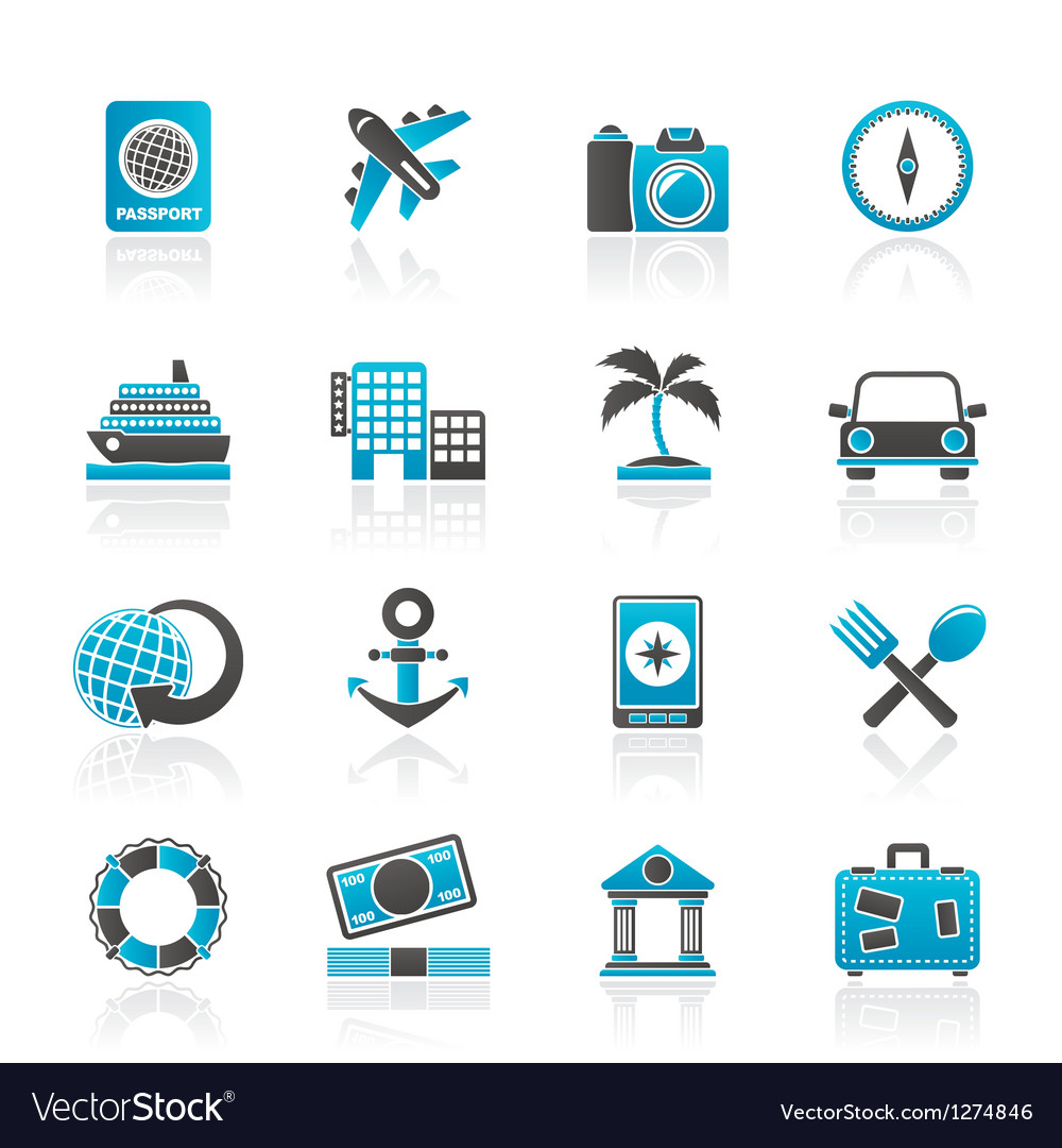 Tourism and travel icons vector | Price: 1 Credit (USD $1)