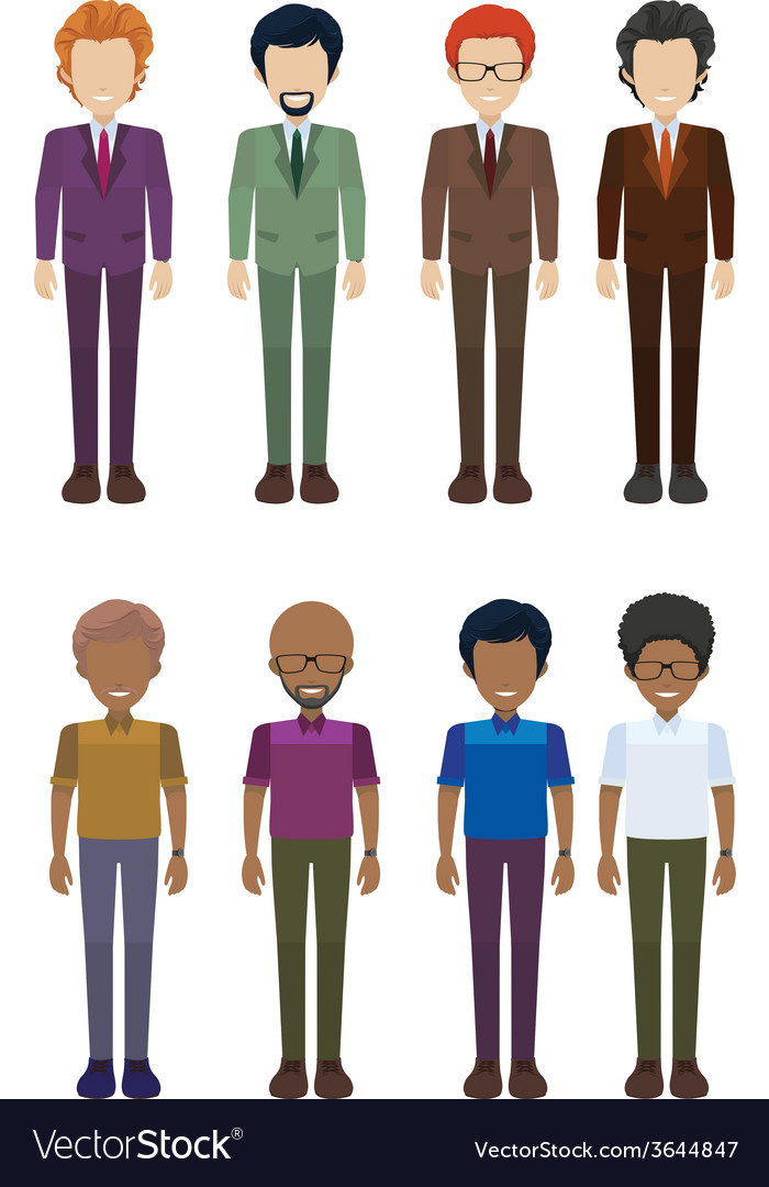 A group of faceless adults vector | Price: 1 Credit (USD $1)