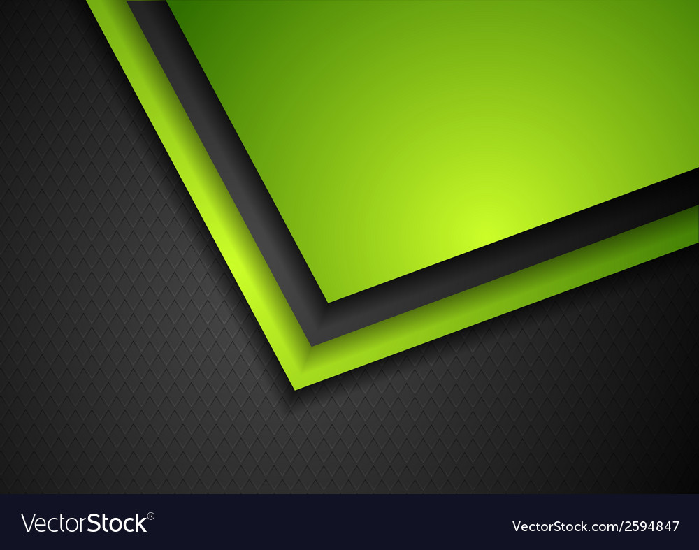Abstract green and black tech corporate design vector | Price: 1 Credit (USD $1)