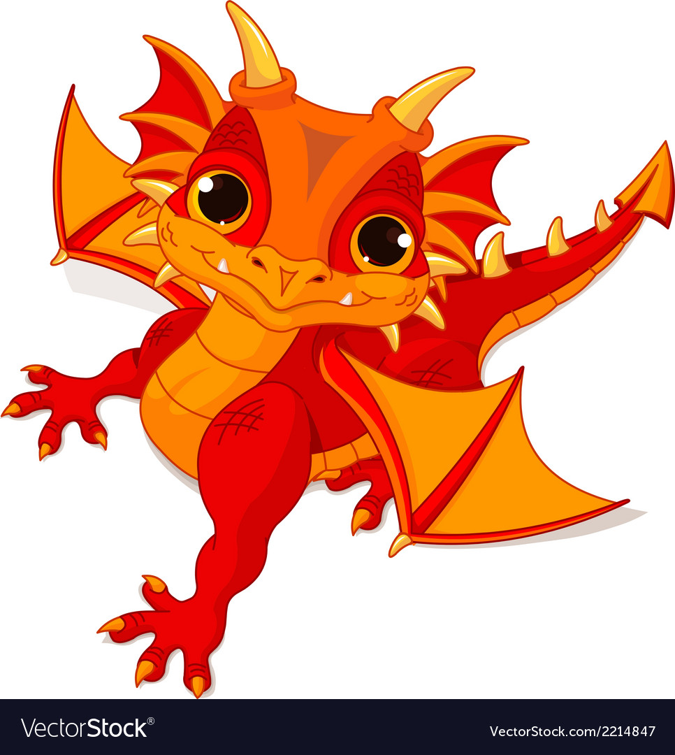 Baby dragon vector | Price: 3 Credit (USD $3)
