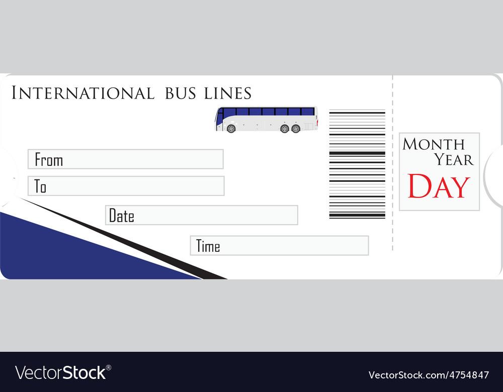 Bus ticket vector | Price: 1 Credit (USD $1)