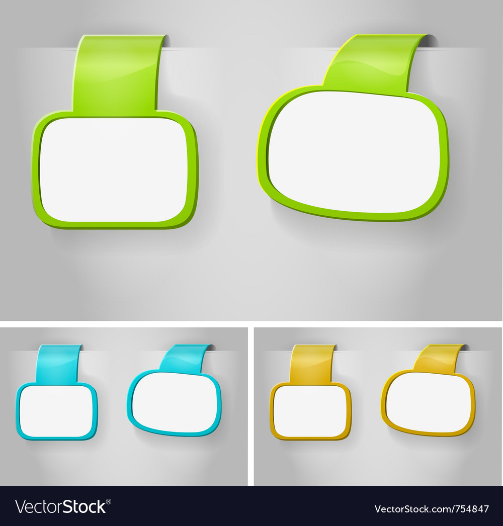 Color blank banner vector | Price: 1 Credit (USD $1)