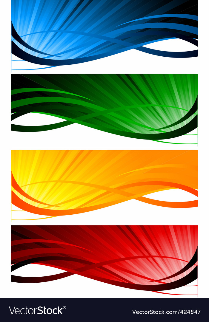 colorful banners vector | Price: 1 Credit (USD $1)