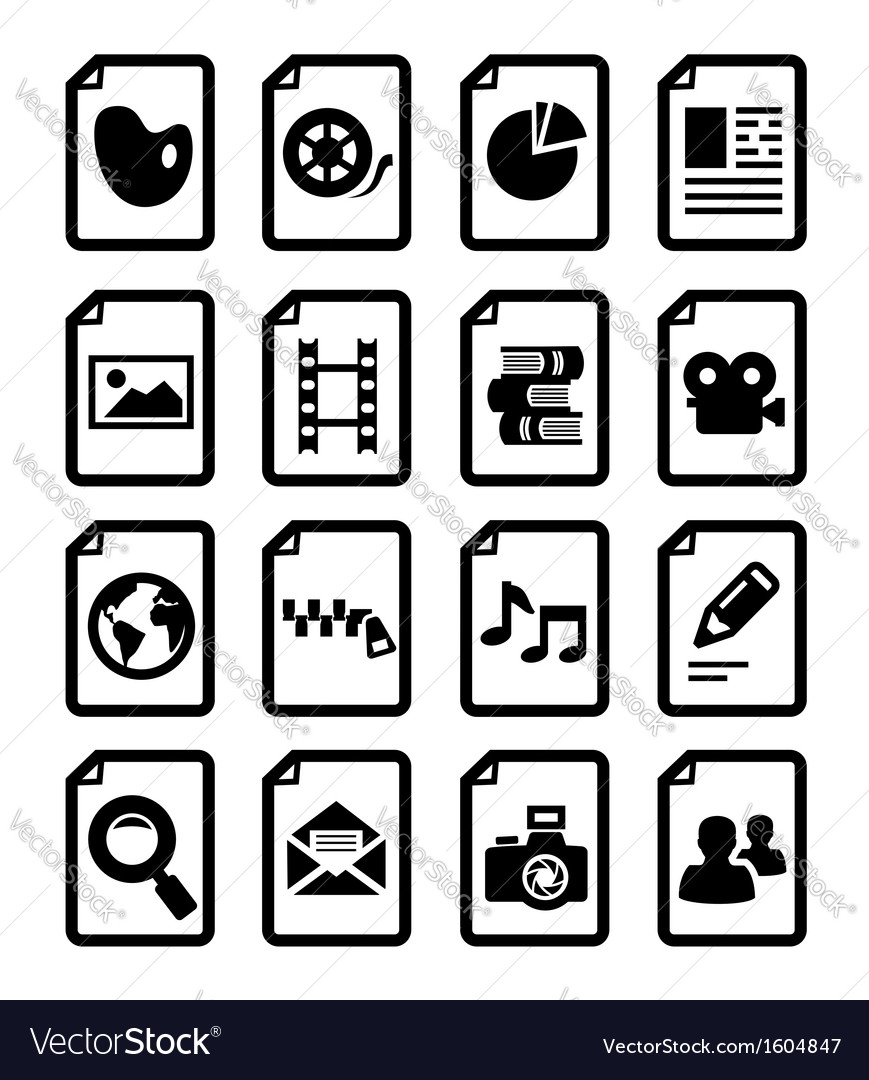 Document icon vector | Price: 1 Credit (USD $1)