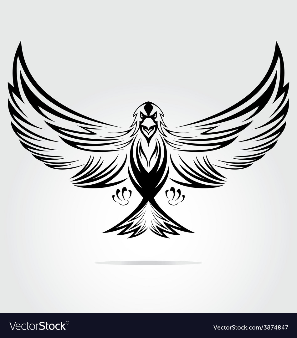 Eagle bird tribal vector | Price: 1 Credit (USD $1)