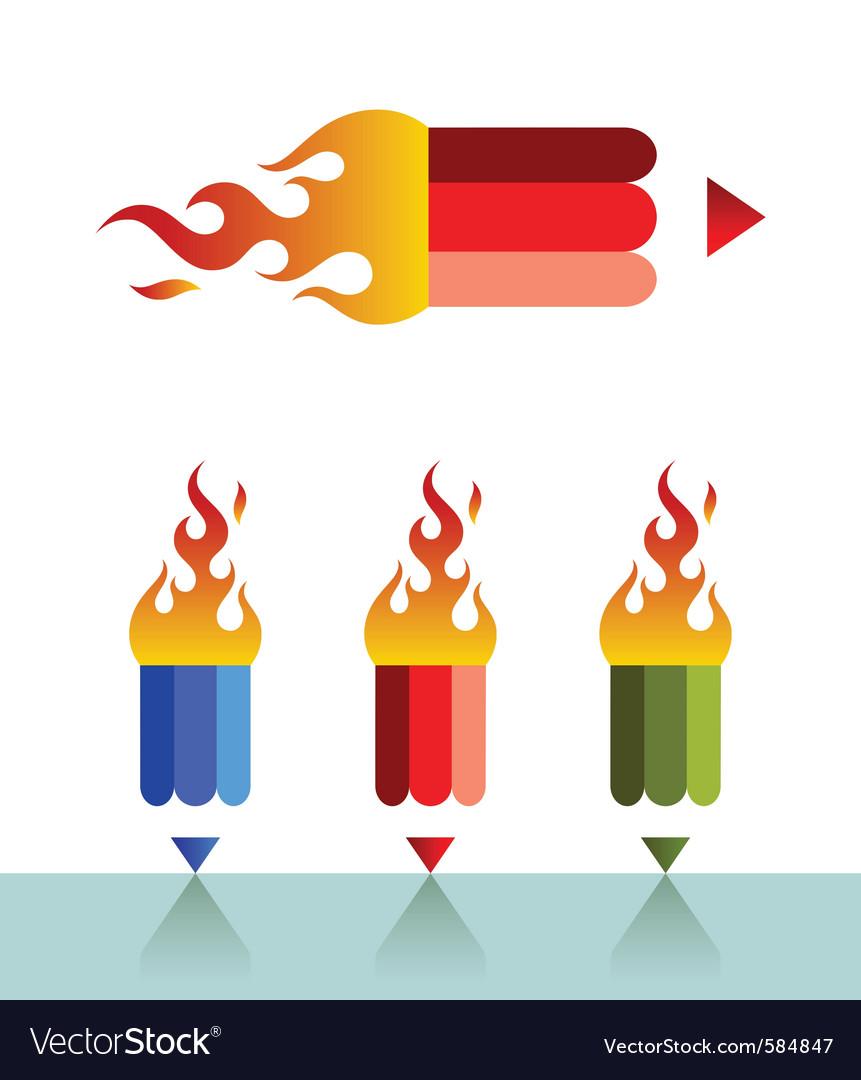 Firepencil vector | Price: 1 Credit (USD $1)
