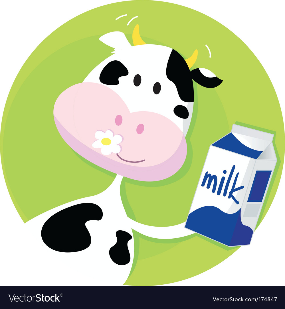 Happy cow vector | Price: 1 Credit (USD $1)