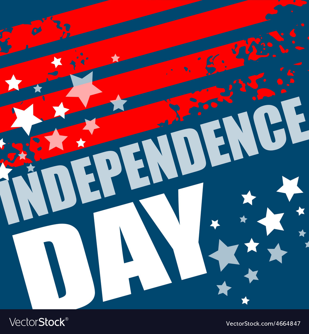 Independence day background abstract grunge vector | Price: 1 Credit (USD $1)
