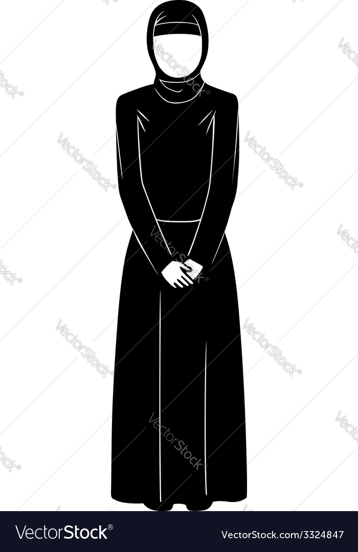 Islamic woman vector | Price: 1 Credit (USD $1)