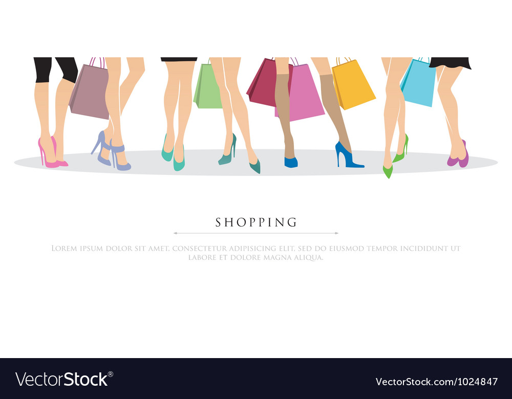 Legs shopping vector | Price: 3 Credit (USD $3)