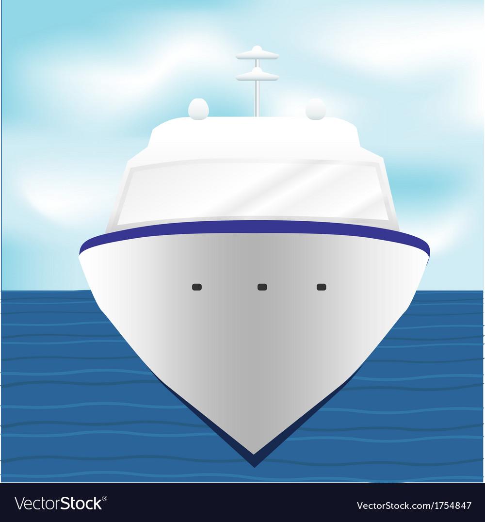 Ocean liner cruise ship boat at sea artwork 1 vector   Price: 1 Credit (USD $1)