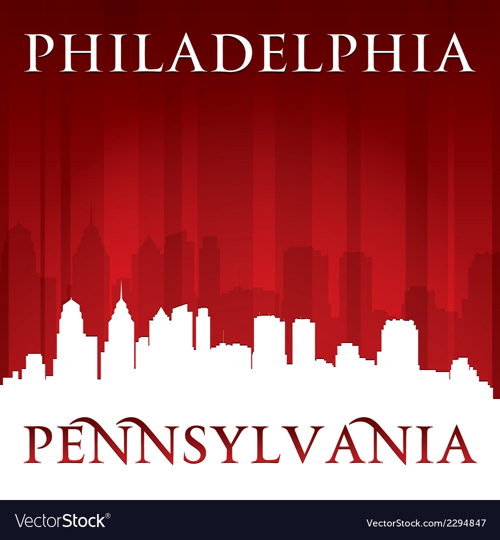 Philadelphia pennsylvania city skyline silhouette vector | Price: 1 Credit (USD $1)