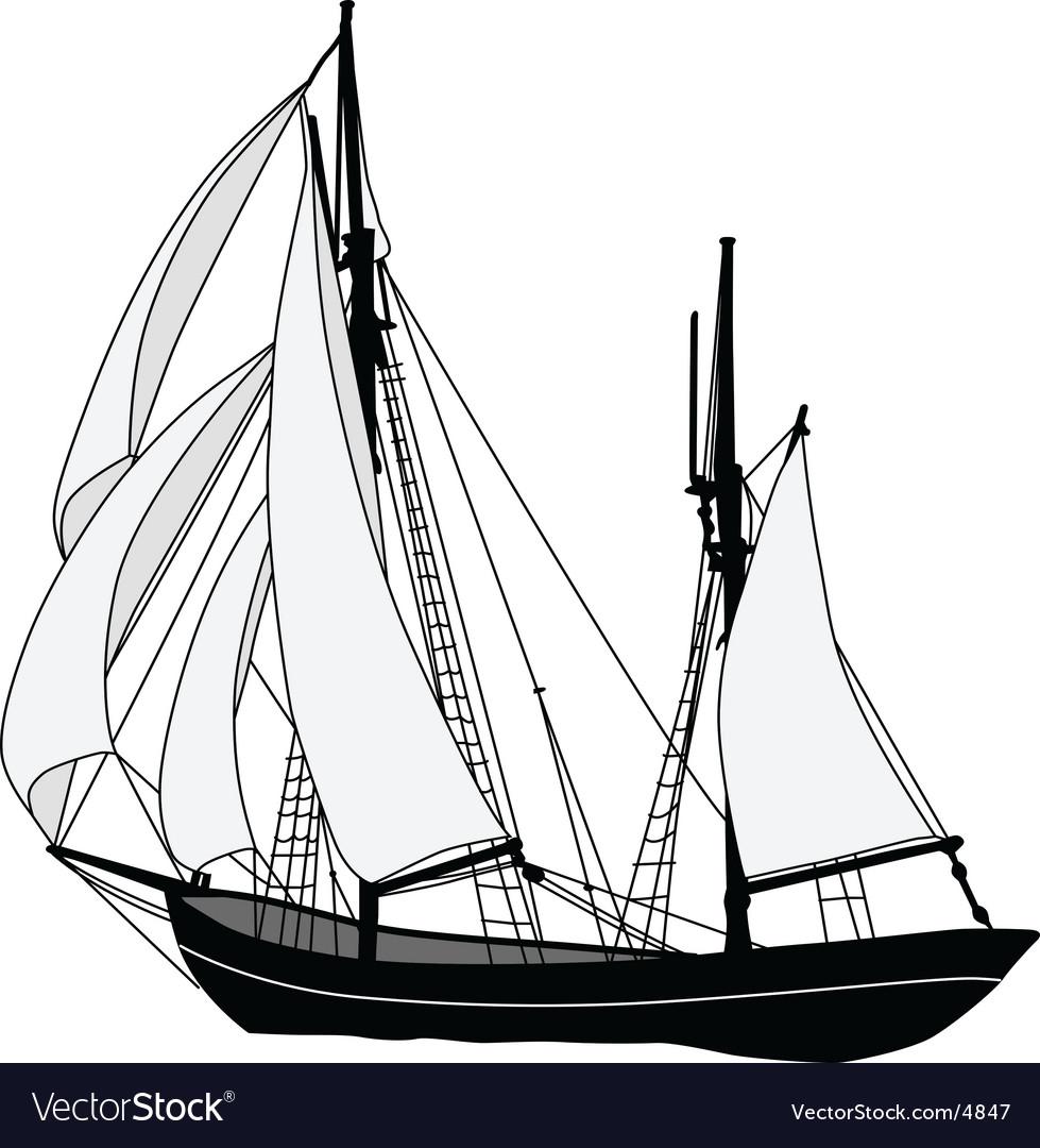 Sailing ship vector | Price: 1 Credit (USD $1)
