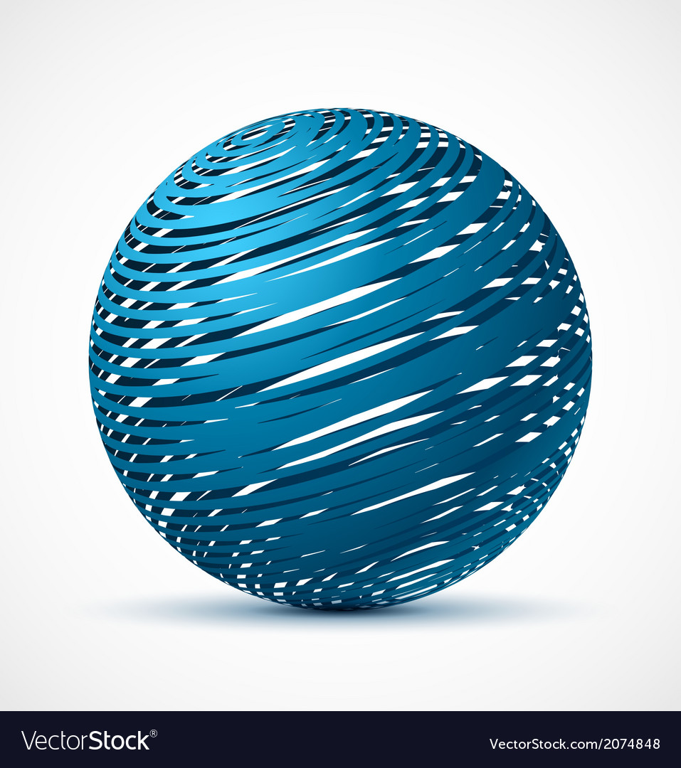 Abstract blue sphere with realistic shadow vector | Price: 1 Credit (USD $1)