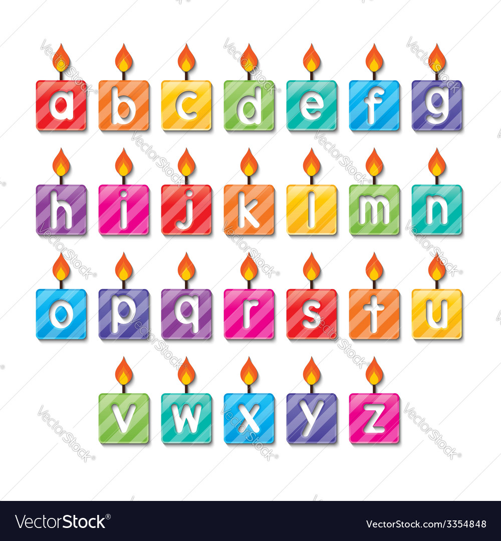 Alphabet candles vector | Price: 1 Credit (USD $1)