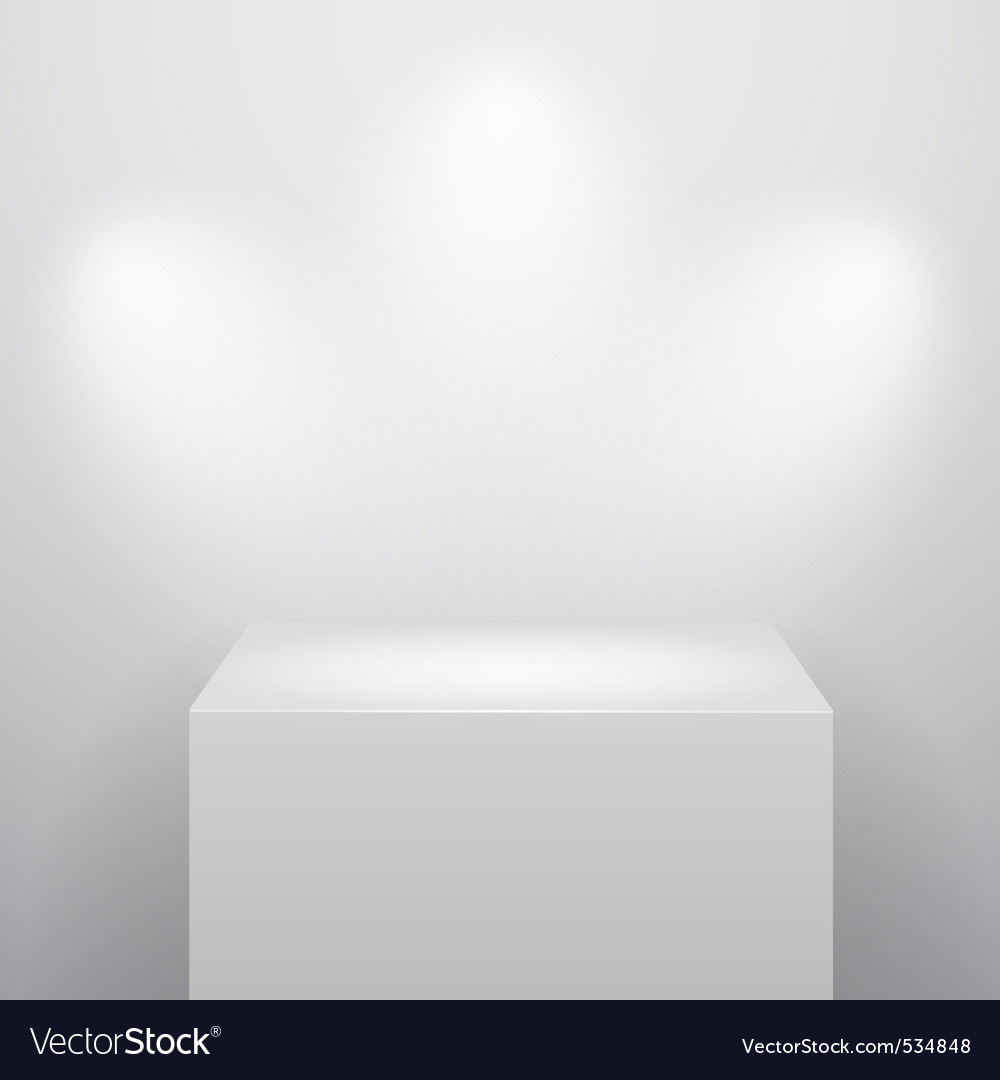 Blank podium vector | Price: 1 Credit (USD $1)
