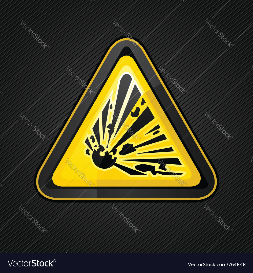 Explosive warning sign vector | Price: 1 Credit (USD $1)
