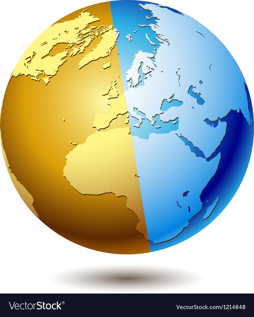Globe blue vector | Price: 1 Credit (USD $1)