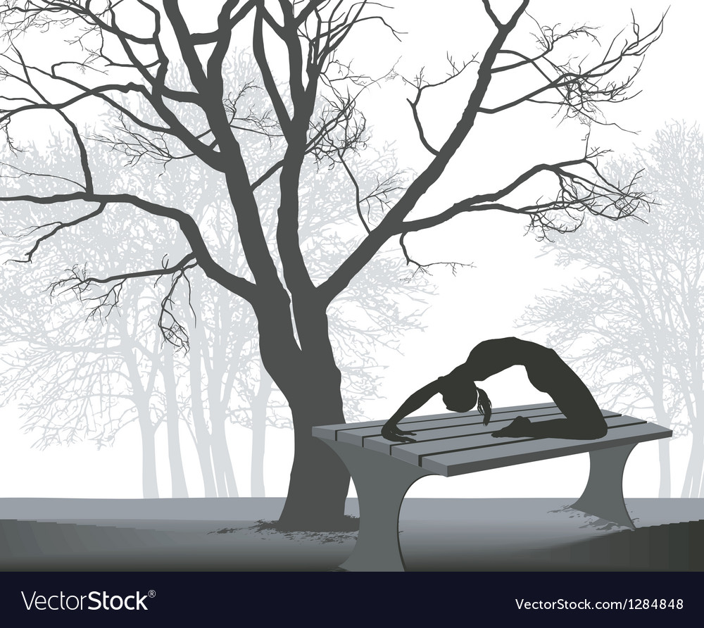Gymnast on a table in in the park vector | Price: 1 Credit (USD $1)