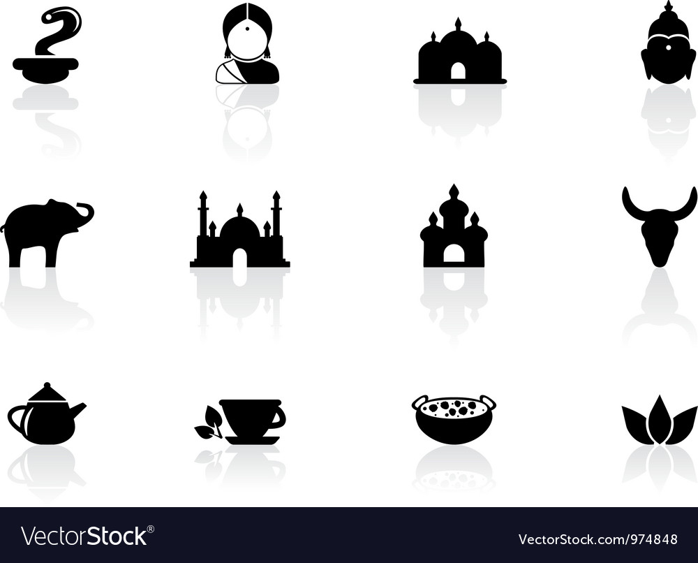 Indian icons vector | Price: 1 Credit (USD $1)