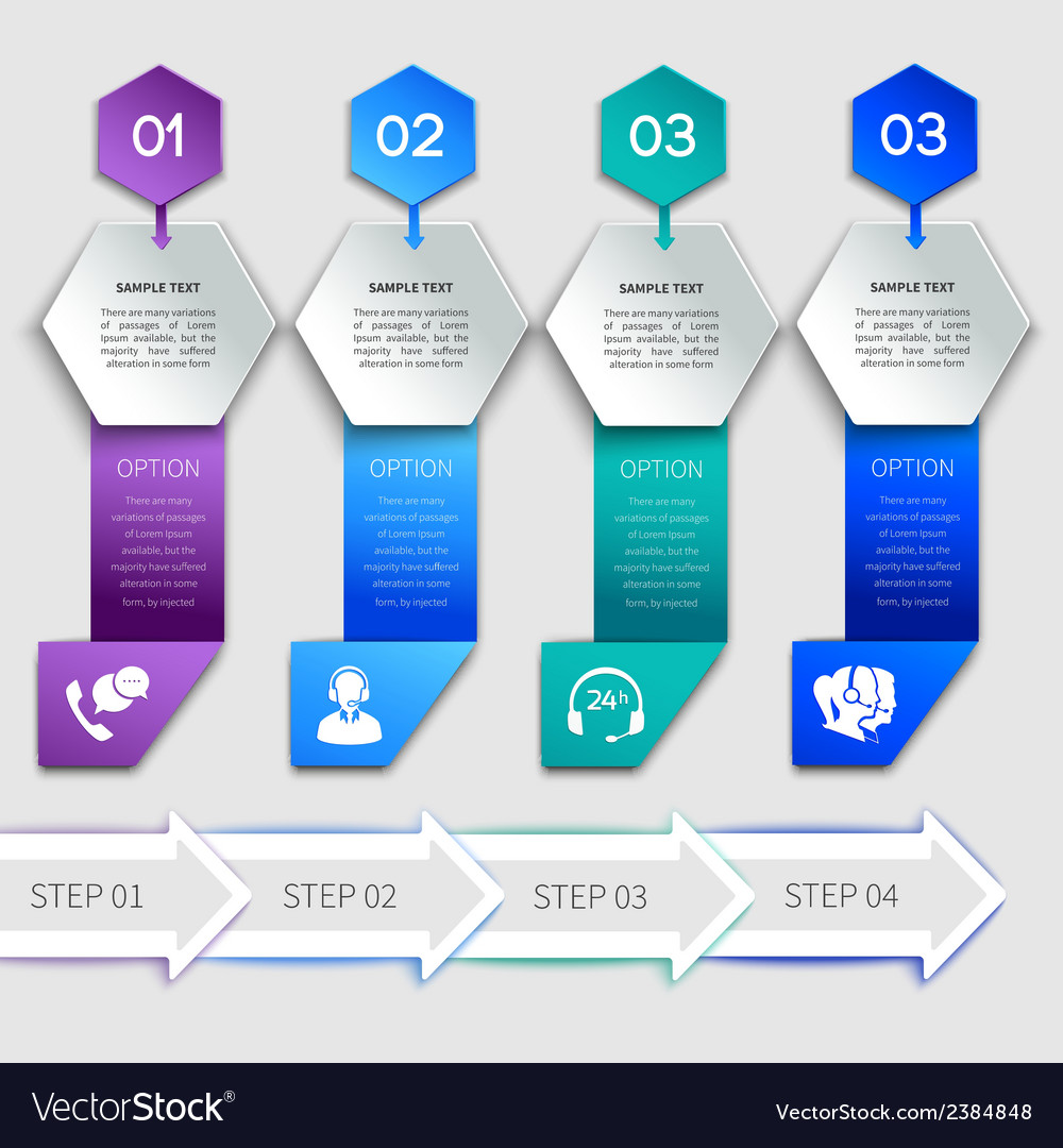 Origami infographics service template vector | Price: 1 Credit (USD $1)